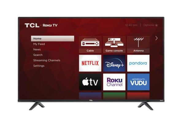 "TCL 55"" Class 4-Series 4K UHD HDR Roku Smart TV – 55S431"