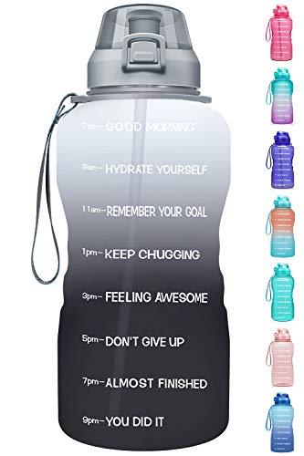 Fidus Large 1 Gallon/128oz Motivational Water Bottle