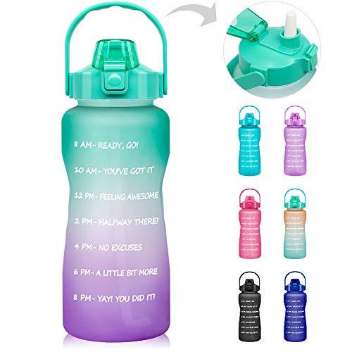 64 OZ/Half Gallon Motivational Water Bottle