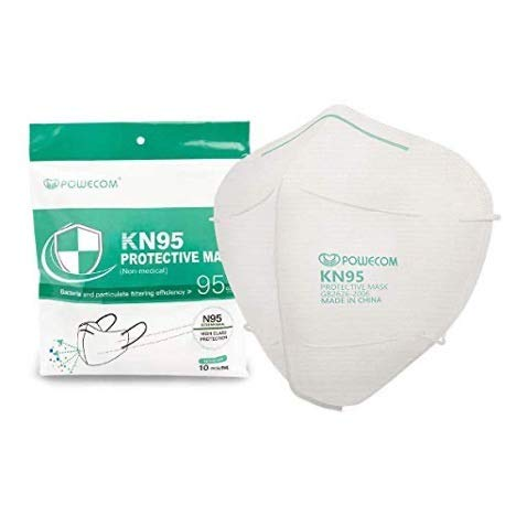 Powecom KN95 Face Mask, 10 Pack Disposable Masks