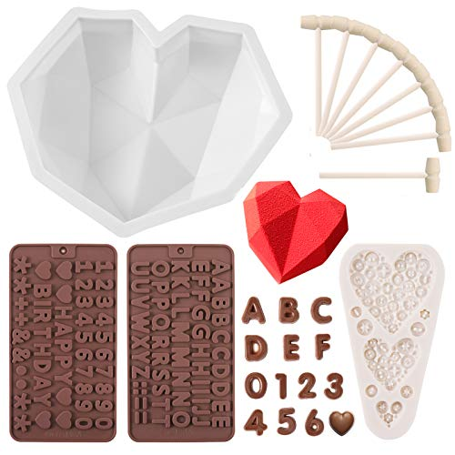 HSJL Heart Shaped Mold for Chocolate Set