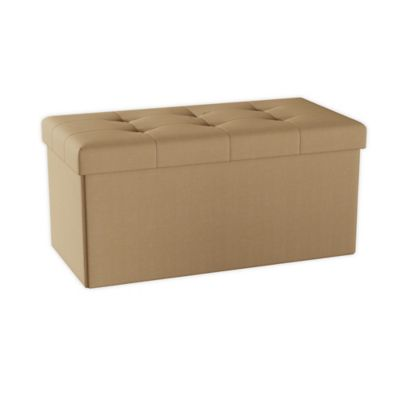 Lavish Home Folding Storage Bench Ottoman