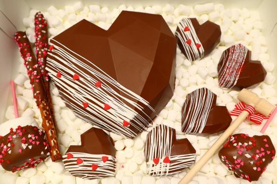 Combo #3 Breakable Chocolate Heart + 9 items Smashable small hearts Valentine Large Bundle