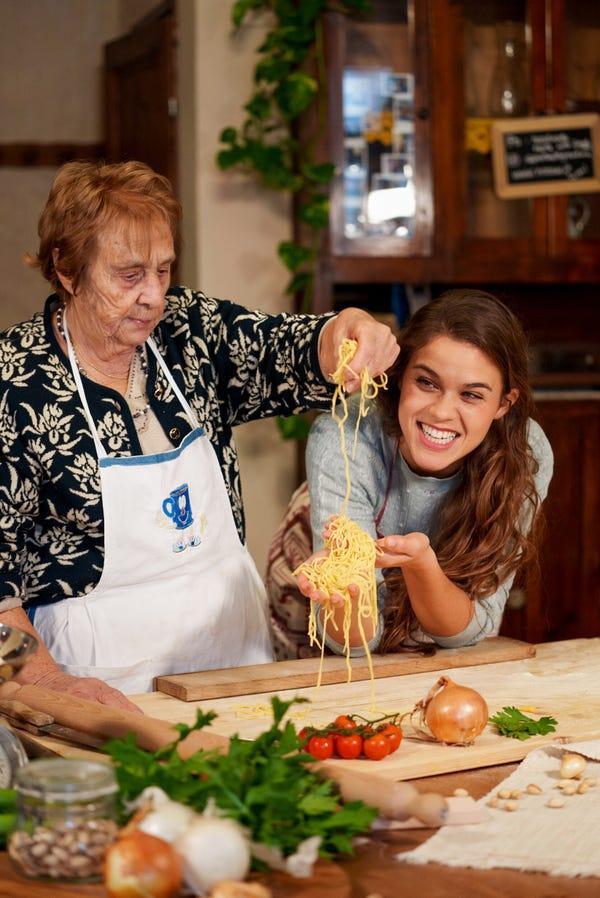 Pasta with the Grandmas