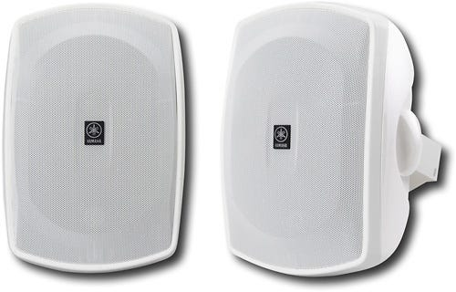 """Yamaha - Natural Sound 6-1/2"""" 2-Way All-Weather Outdoor Speakers (Pair) - White"""