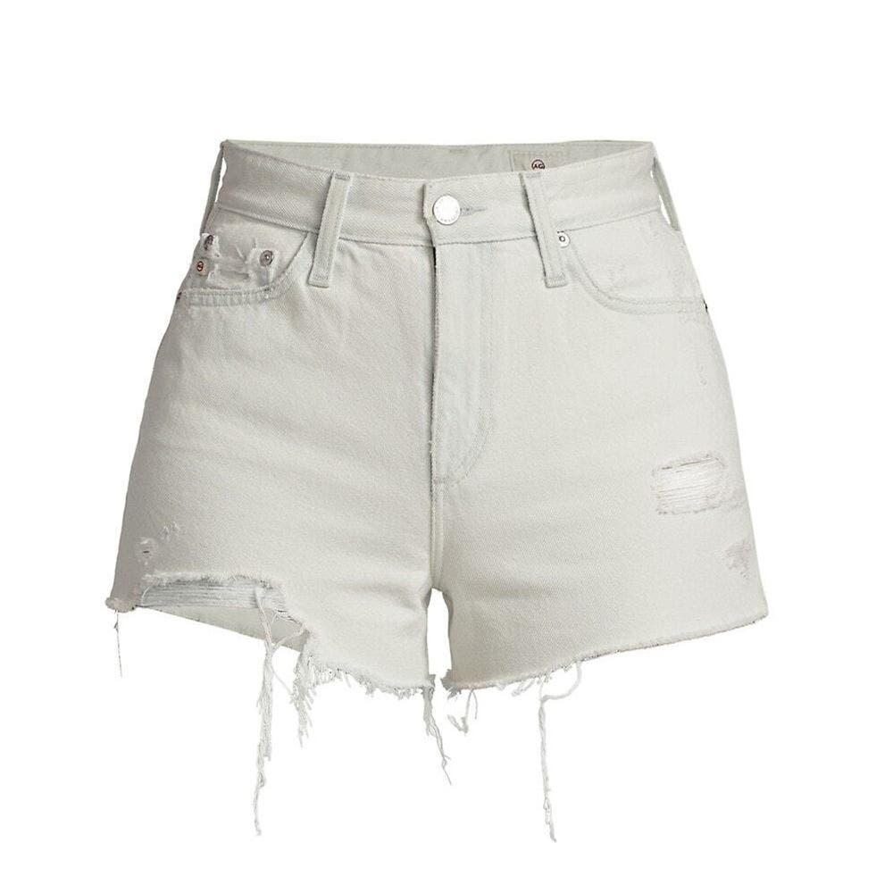 High-Waist Distressed Shorts