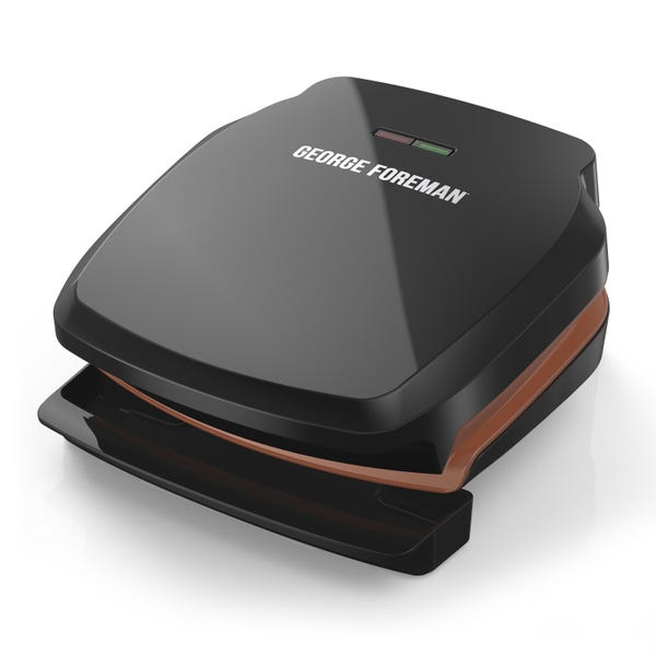 George Foreman 2-Serving Copper Color Classic Plate Grill