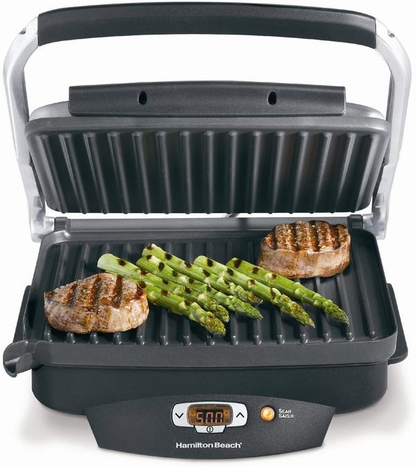 Hamilton Beach Steak Lover's Electric Indoor Searing Grill
