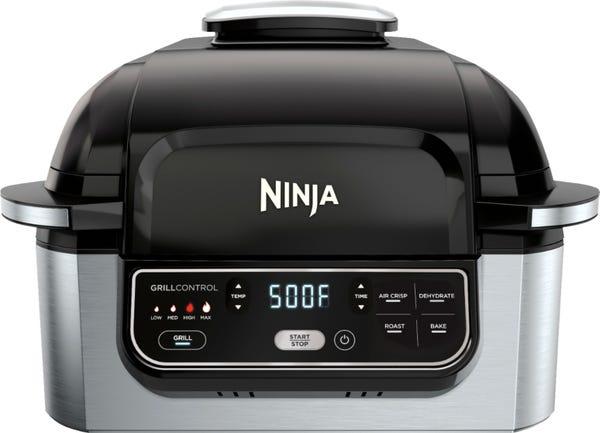 Ninja - Foodi 5-in-1 Indoor Smokeless Air Fry Electric Grill