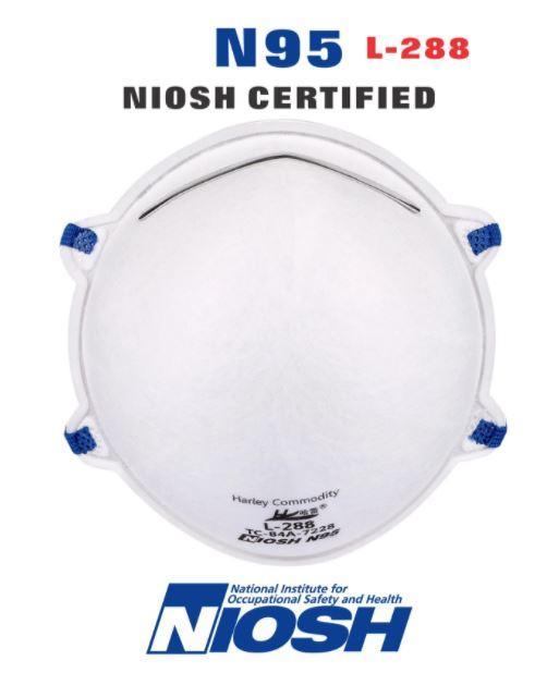N95 NIOSH Masks (20 Pack) Harley Hard Shell L-288 (20 Pack) $79.99