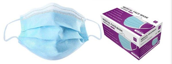 3 Ply Surgical Face Mask - LEVEL 2 - Adult Medical Grade (50 Pack) $19.99