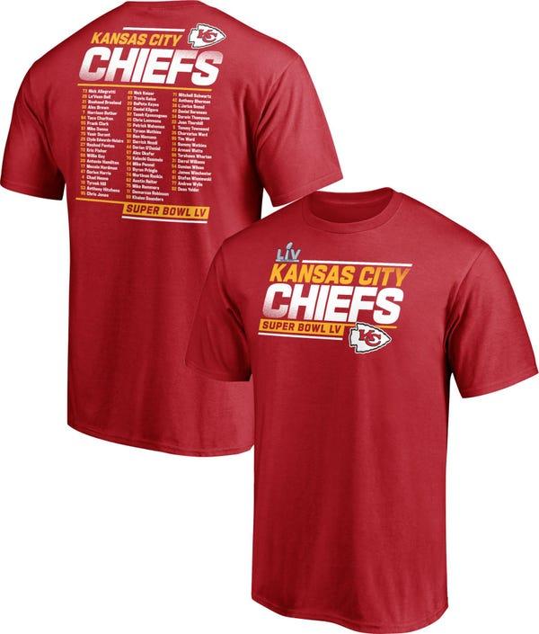 NFL Men's Kansas City Chiefs Super Bowl LV Bound Roster T-Shirt