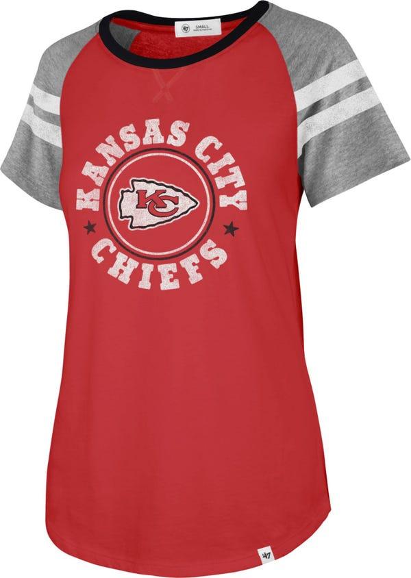 '47 Women's Kansas City Chiefs Static Red Raglan T-Shirt