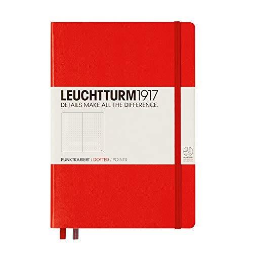 LEUCHTTURM1917 - Medium A5 Dotted Hardcover Notebook (Red)