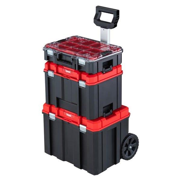 CRAFTSMAN VERSASTACK 17.126-in Plastic; Metal Wheels Lockable Tool Box