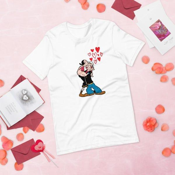 Popeye and Olive Oyl Short-Sleeve Unisex T-Shirt