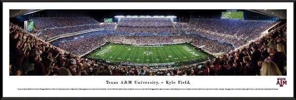 Texas A&M University Kyle Field Standard Frame Panoramic Print