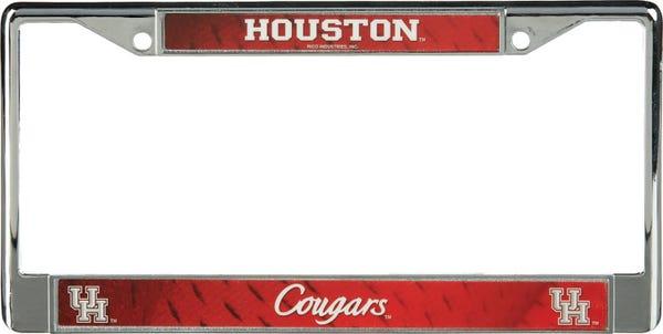 University of Houston Chrome License Plate Frame