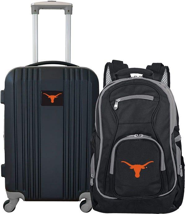 Texas Longhorns Two Piece Luggage Set