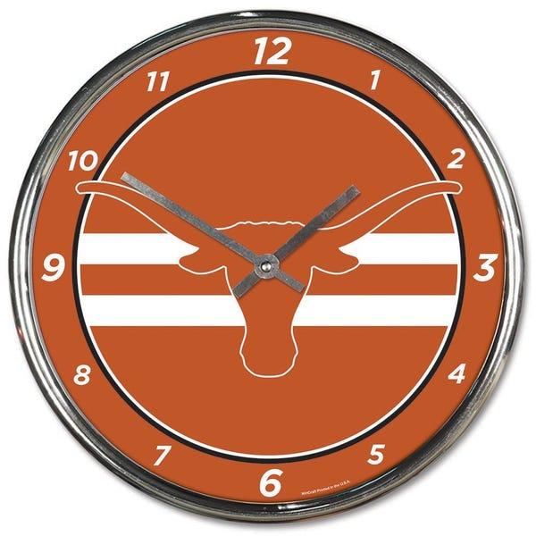 Texas Longhorns Chrome Clock