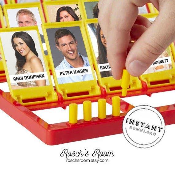 'The Bachelor' Guess Who Printable Template