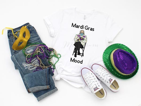 Bernie Mood Mardi Gras Mood Shirt