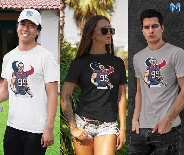 J.J. Watt, Houston Texans KIDS & ADULT Unisex Short Sleeve T-Shirt