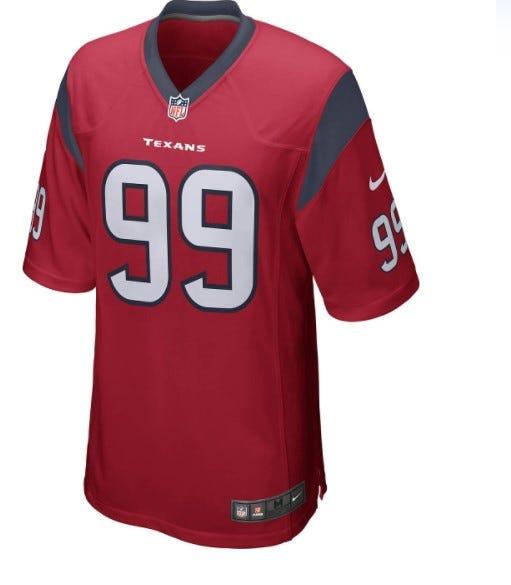Nike Men's Houston Texans J.J. Watt Alternate Game Jersey