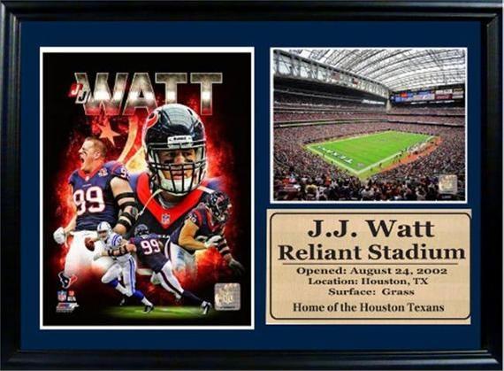 12X18 Photo Stat Frame - JJ Watt Houston Texans