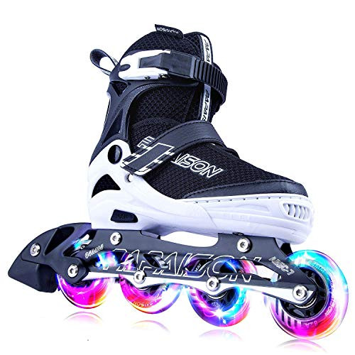 PAPAISON Adjustable Inline Skates for Kids and Adults with Full Light Up Wheels