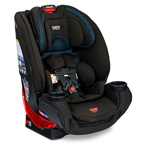 Britax One4Life ClickTight All-In-One Car Seat – 10 Years of Use – Infant, Convertible, Booster – 5 to 120 Pounds + Cool Flow Ventilating Fabric, Cool Flow Teal [Amazon Exclusive]