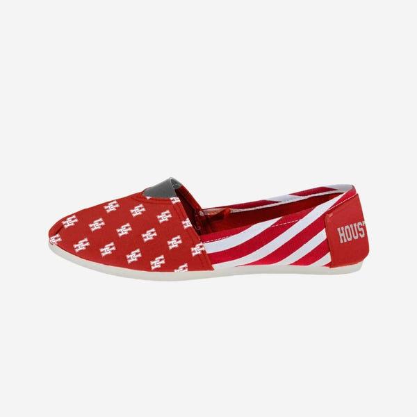 Houston Cougars Womens Stripe Canvas Shoe