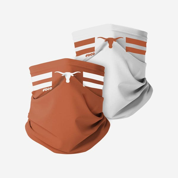 Texas Longhorns Stitched 2 Pack Gaiter Scarf