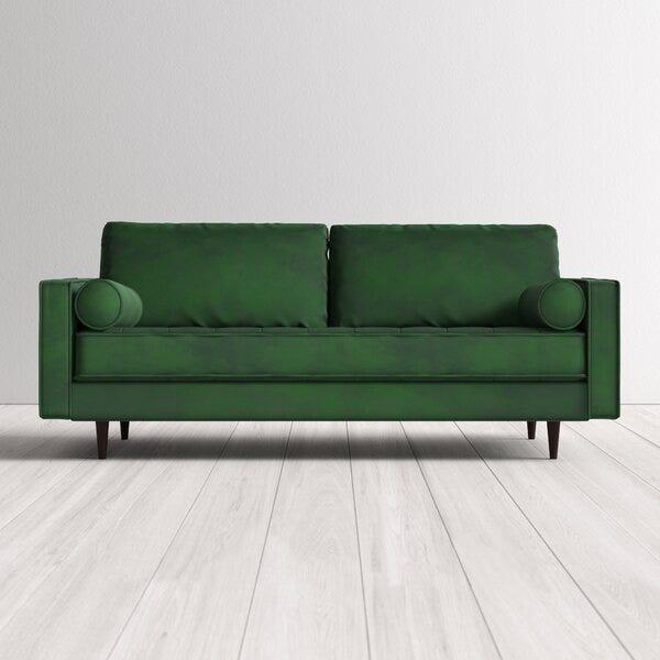 """Ravi Velvet 84"""" Square Arm Sofa"""
