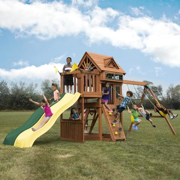 Gorilla Playsets Captains Fort Residential Wood Playset