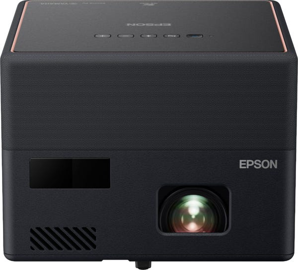 Epson - EpiqVision™ Mini EF12 Smart Streaming Laser Projector with HDR and Android TV - Black and Copper