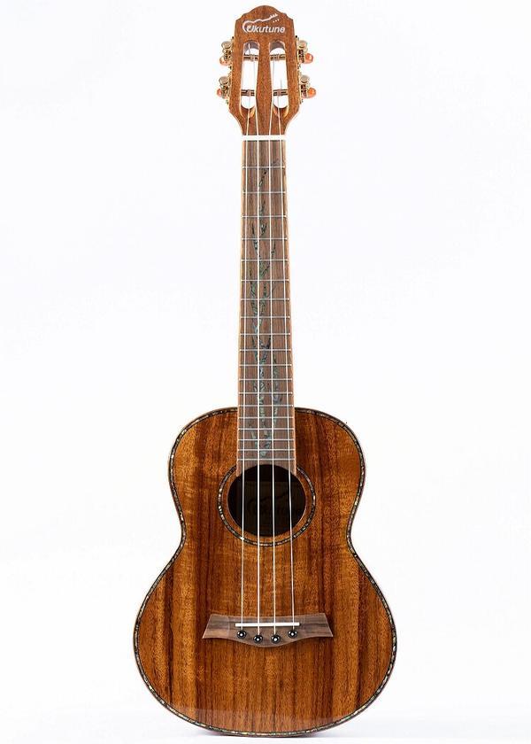"26"" Solid Flamed Koa Wood Tenor Ukulele"