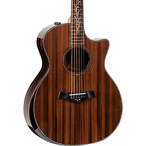 Taylor Custom Limited Edition Ebony Grand Auditorium Acoustic-Electric Guitar Natural