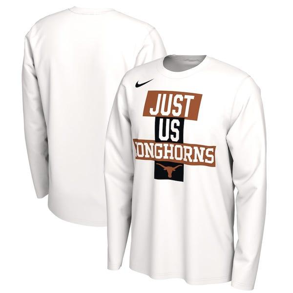Texas Longhorns Just Us Bench Long Sleeve T-Shirt