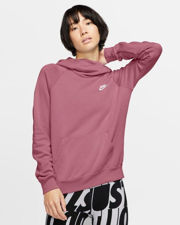 Women's Funnel-Neck Fleece Pullover Hoodie Nike Sportswear Essential