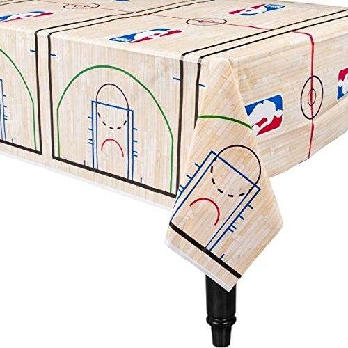 Spalding Basketball Collection Printed Plastic Table Cover