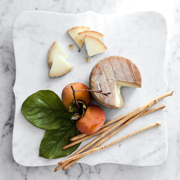 Scalloped Marble Cheese Board
