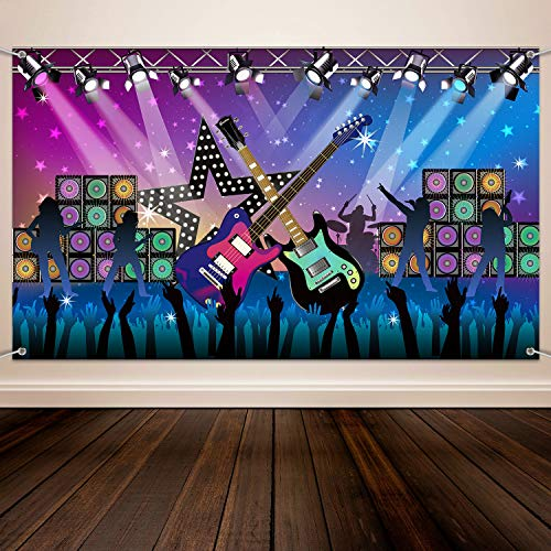 Large Fabric Rock Star Party Backdrop