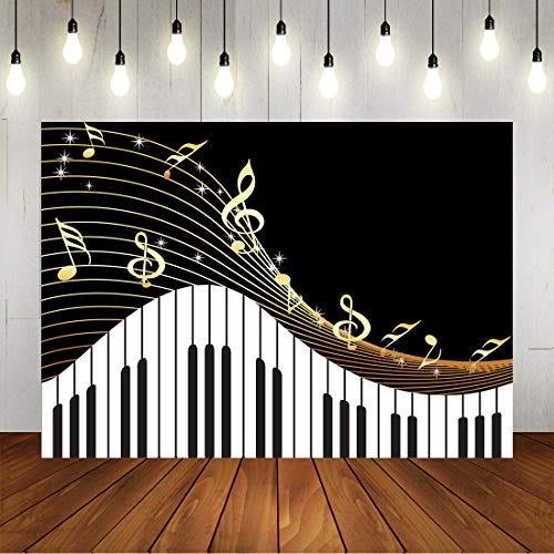 Piano Theme Backdrop