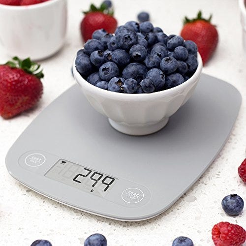 GreaterGoods Digital Food Kitchen Scale, Multifunction Scale Measures in Grams and Ounces