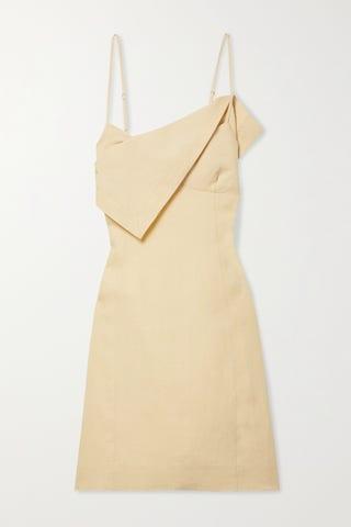 Open-Back Linen Dress