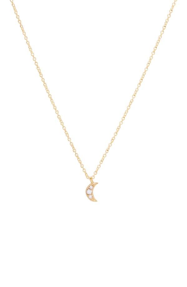 Moon Charm Pendant Necklace