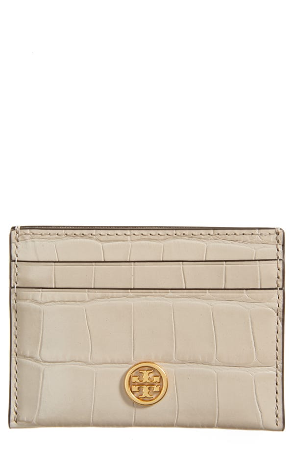 Robinson Croc Embossed Leather Card Case