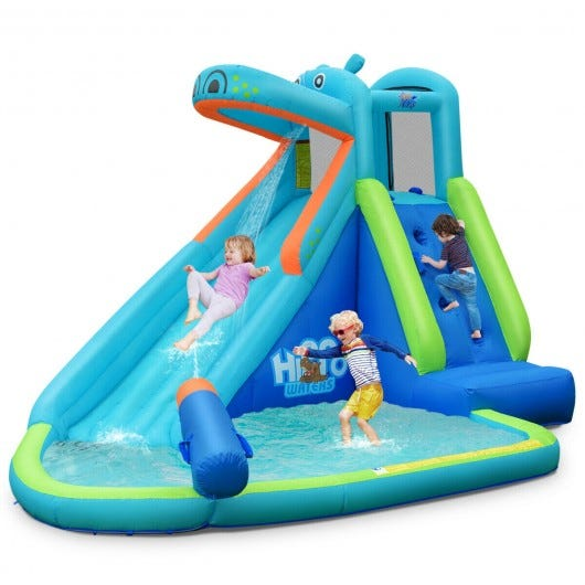 Inflatable Water Pool with Splash and Slide