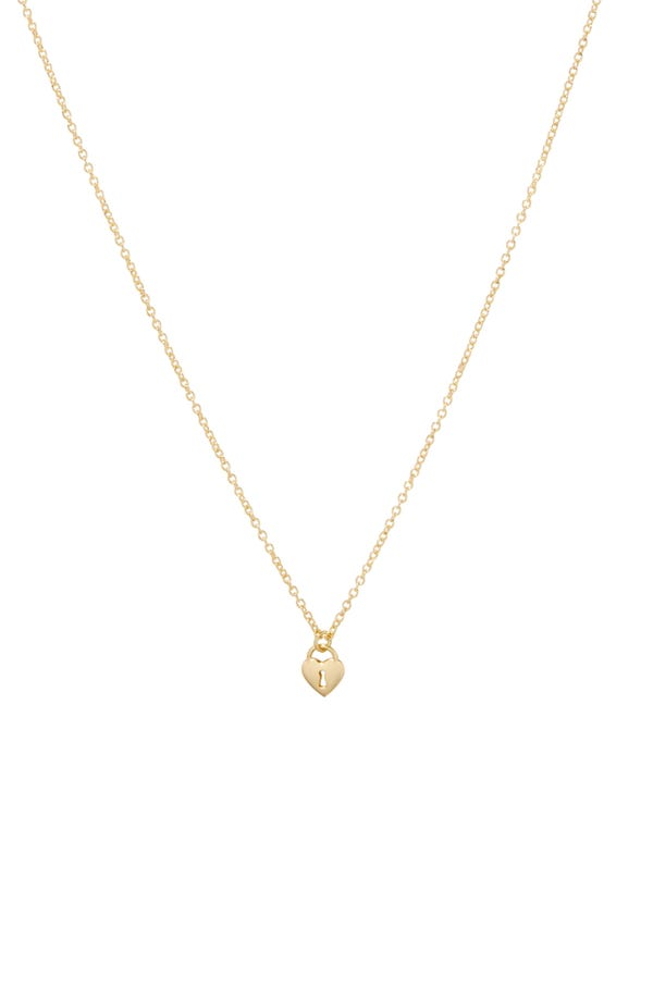 gorjana Heart Padlock Charm Pendant Necklace